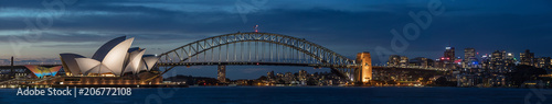 Sydney harbour at dusk, Sydney NSW, Australia - 206772108