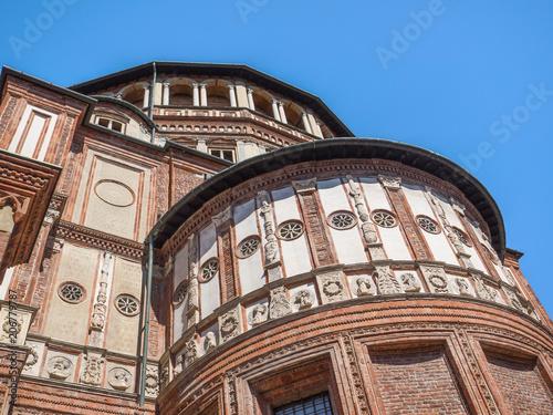 Plexiglas Milan Santa Maria delle Grazie Renaissance sanctuary recognized by UNESCO as a World Heritage Site