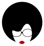 woman wire frame glasses - 206782125