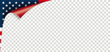 Scrolled Corner USA Flag Paper Cover Transparent - 206791178