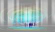 Leinwanddruck Bild artificial intelligence futuristic human robots