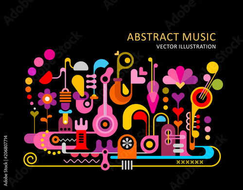 Canvas Abstractie Art Abstract Music Background