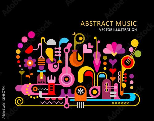 In de dag Abstractie Art Abstract Music Background