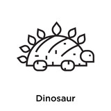 Dinosaur icon vector sign and symbol isolated on white background