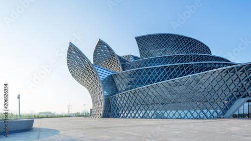 Foto Murales modern building exterior empty ground