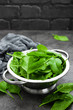 Spinach. Fresh spinach leaves - 206827979