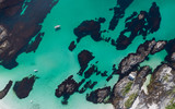 Aerial View Beach Drone