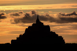 Le Mont Saint-Michel tidal island Normandy northern France - 206843757