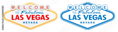 detailed Las Vegas Sign vector