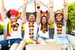 Leinwanddruck Bild - Deutsche Fußball Fans