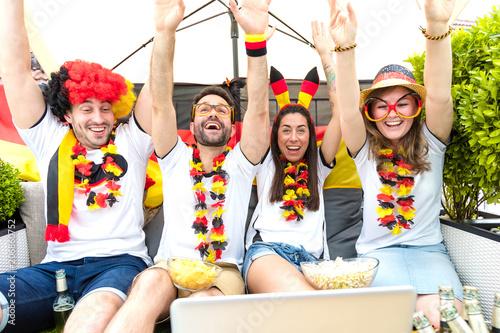 Leinwanddruck Bild Deutsche Fußball Fans