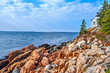 Bass Harbor Lighthouse Overlooking the Boulders of Maine