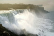 Niagara falls or Waterfalls at sunrise