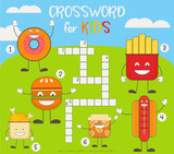 Colorful Crossword in English - 206867720