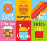 fast Food Posters Collection - 206867773