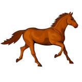 Figure of a trotting horse - 206878925