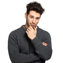 Man In A Casual Look Sticker