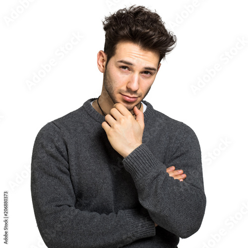 Man in a casual look