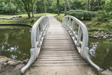 wooden bridge in park - 206880506