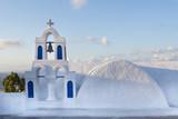Orthodox church in Santorini island, Greece - 206884514