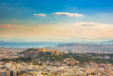 Panoramic aerial view of Athens, Greece at summer day - 206895749