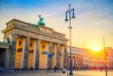 Brandenburg gate at dusk, Berlin