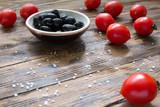 tomatoes olives natural healthy vegetarian food