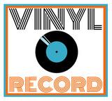 vintage vinyl record design - 206908360
