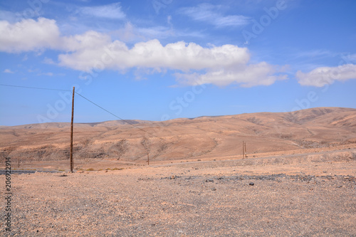 Canvas Zalm Landscape in Tropical Volcanic Canary Islands Spain