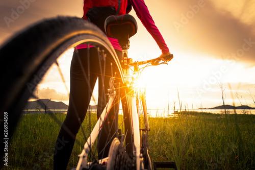 Extreme mountain bike sport athlete man riding outdoors lifestyle trail