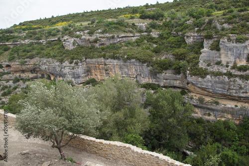 Canvas Khaki Panorama de Minerve dans le Sud de la France