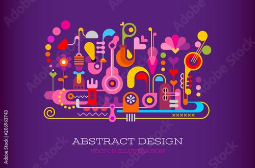 Fotobehang Abstractie Art Abstract Design vector background