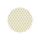 Abstract japanese ornament with floral elements. Asian golden background, traditional oriental culture vector illustration.