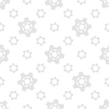 Seamless geometric pattern with gears. Black and white. - 206969338