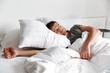 Leinwanddruck Bild - Attractive young man sleeping