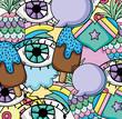 Pop art background cartoons - 206972507