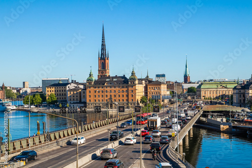 Fotobehang Stockholm Stockholm city centre