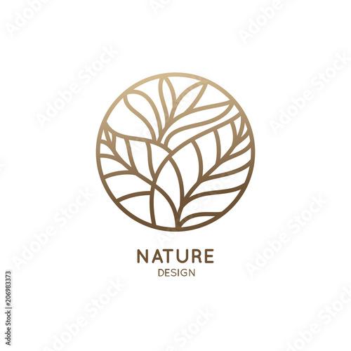 Tropical plant logo - 206983373