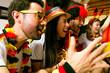Leinwanddruck Bild - Deutsche Fußball Fans Jubeln