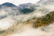 Chilliwack Lake Provincial Park in fog, Canada