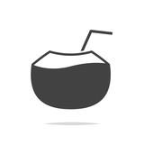 Fresh coconut icon vector isolated - 206996707
