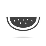 Watermelon icon vector isolated - 206998962