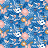 Trendy seamless floral ditsy pattern. Fabric design with simple flowers. Vector seamless background. Garden pattern. - 207003305