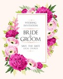 Vintage wedding invitation - 207003760