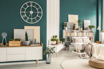 Studio apartment with designer decorations