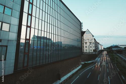 Fotobehang Berlijn A100 / Stadtautobahn von Berlin