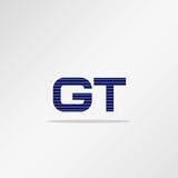 Initial Letter GT Logo Template Vector Design