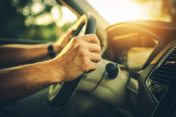Hands on the Car Wheel