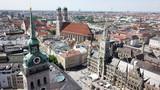 Panoramaluftaufnahme der bayerischen Hauptstadt München, Deutschland - 207042342