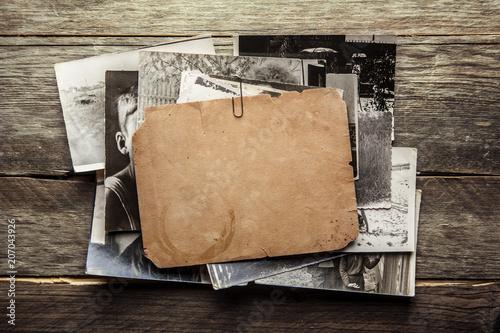 Vintage blank photo - 207043926